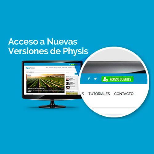 Acceso a nuevas versiones de Physis